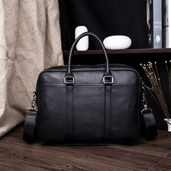 TESU(テス) - Faux Leather Briefcase