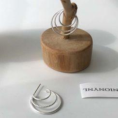 Calypso - 合金多層開口圈環耳環