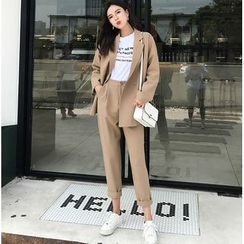 MAVIS - Set: Double Breasted Blazer + Cropped Dress Pants