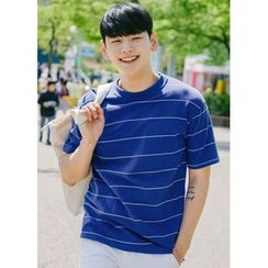 JOGUNSHOP - Short-Sleeve Striped T-Shirt