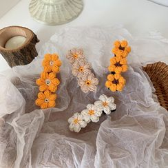 Koi Kawaii - 毛线花朵发夹