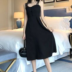 Tiny Times - Strappy A-Line Midi Dress