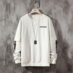 Ninine - Pocket-Detail Lettering Sweatshirt