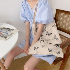 TangTangBags - Printed Canvas Shopper Bag