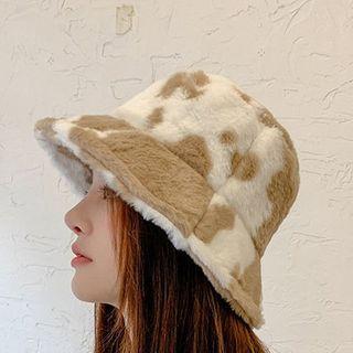 Carmilla - 奶牛印花毛絨漁夫帽