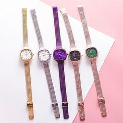 Teep - Embellished Square Strap Watch