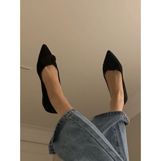 maybe-baby - Pointy-Toe Faux-Suede Flats