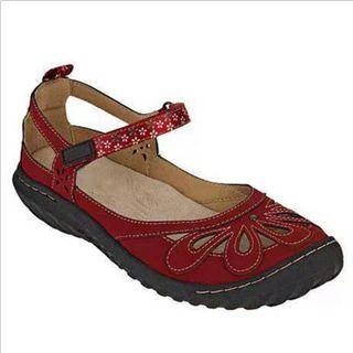 Avanti - Perforated Adhesive Strap Sandals