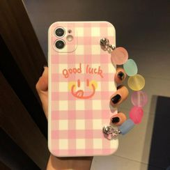 Huella - Printed Phone Case with Chain For iPhone SE / 7 / 7 Plus / 8 / 8 Plus / X / XS / XR / XS Max / 11 / 11 Pro / 11 Pro Max