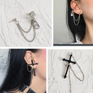 Admae - Alloy Chain Earring (Various Designs)