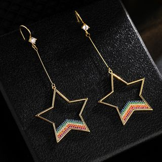 True Glam - Alloy Rainbow Star Dangle Earring