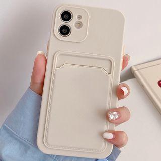BlingStar - Plain Card Holder Phone Case - iPhone 12 Pro Max / 12 Pro / 12 / 12 mini / 11 Pro Max / 11 Pro / 11 / SE / XS Max / XS / XR / X / SE 2 / 8 / 8 Plus / 7 / 7 Plus