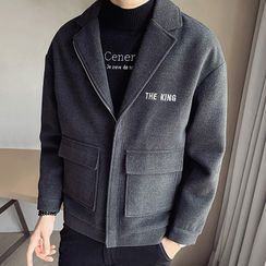 Andrei - Lettering Zipped Jacket