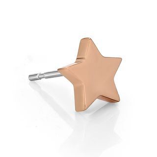 Kenny & co. - 14K玫瑰金星形電鍍耳環(一隻)