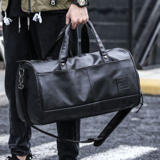 Moyyi - Faux Leather Duffle Bag