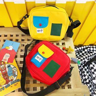 Yunikon - Color Block Messenger Bag