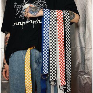 Banash - Check Canvas Belt