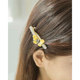 Miss21 Korea - Butterfly Rhinestone Hair Barrette