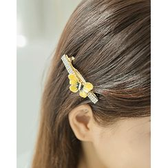 Miss21 Korea - Butterfly Rhinestone Hair Barrette