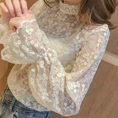 JOWI - 喇叭袖蕾丝衬衫