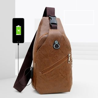 Bagolo - Faux Leather Slingbag  with USB Charging Port