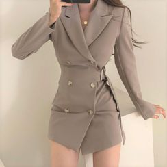 Pomona - Long-Sleeve Double Breasted Coat Dress