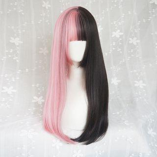 Jellyfish - 双色长款假发 - 直发