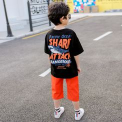 Cherry Pie - Kids Short-Sleeve Shark Print T-Shirt