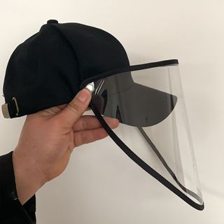 LANWO - Plain Baseball Cap with Face Shield