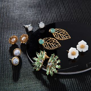 Yongge - 6-pair Set: Alloy Earring (assorted designs)