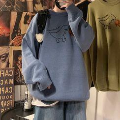 Artistman - 恐龙刺绣毛衣