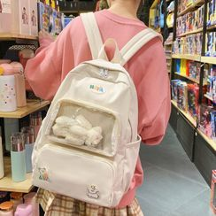 EAVALURE(イーヴァルア) - Transparent Pocket Zip Backpack