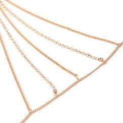Seirios - Rhinestone Chain Bra