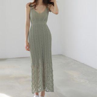 Kokuko - Sleeveless Midi Sheath Knit Dress