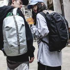 SUNMAN - Couple Matching Lettering Canvas Backpack
