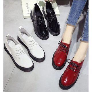 Belbie - Lace-Up Patent Shoes