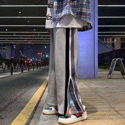 Kimeya - Patterned Side-Zip Wide Leg Pants