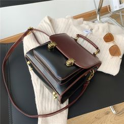 BAGSHOW - Faux Leather Satchel