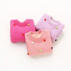 Cuckoo(クク) - Kids Pom Pom Sweater