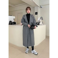 chuu - Trench-Like Long Wrap Coat