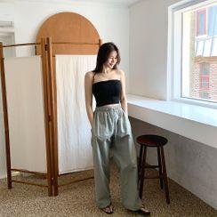 PPGIRL - Drawstring-Waist Pants