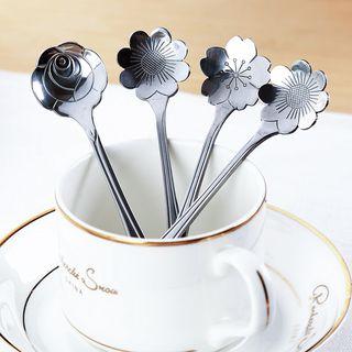 Yulu - Stainless Steel Flower Coffee Spoon