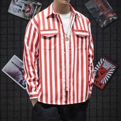 Besto - Long-Sleeve Striped Shirt