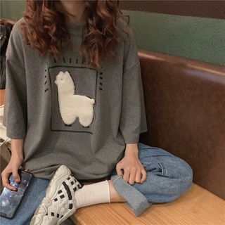 IndiGirl - Short Sleeve Applique T-Shirt