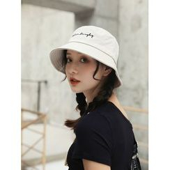LANWO - Embroidered Lettering Bucket Hat