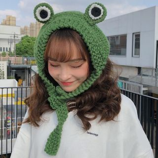 Oktokki - Frog Eye Knit Trapper Hat