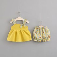 Hecto - 小童套装: 无袖上衣 + 圆点短裤