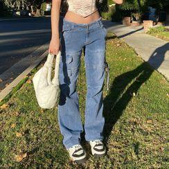 BrickBlack - Plain Boot-cut Jeans