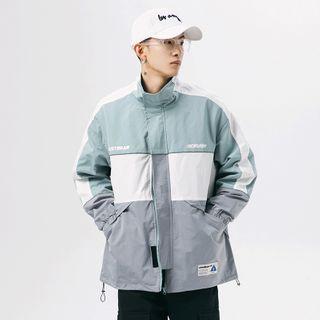 Phoebus - Color Block Zip Jacket