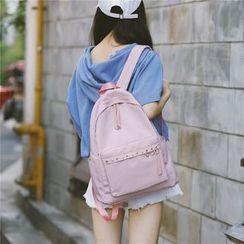 AIQER - Ring Detail Nylon Backpack